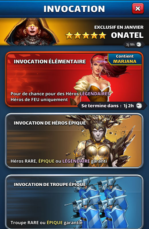 Invocations - Empires and Puzzles