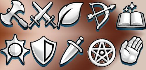 Les symboles et emblèmes des classes dans Empires & Puzzles